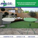 Tavolo da bar in Alluminio Ø 70 x H71 Cm Bistrot Vari Colori Garden De Luxe