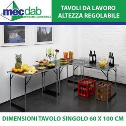 Tavolo da Lavoro Pieghevole Altezza Regolabile 3 Tavoli