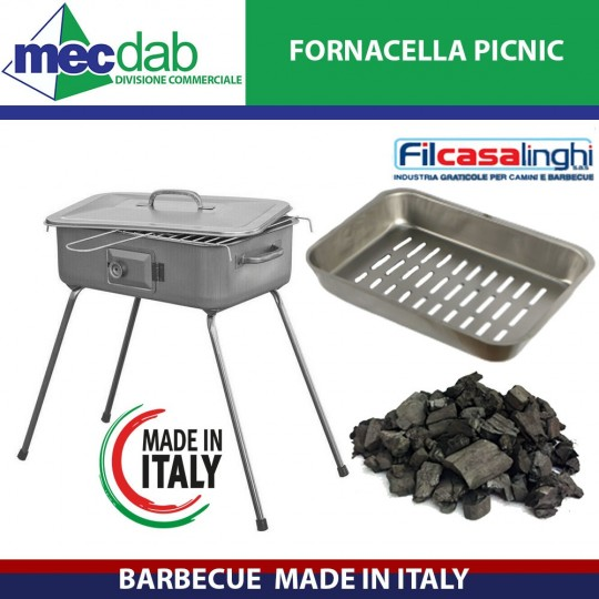 Barbecue Fornacella Made in Italy Picnic 37 x 27 Cm Filcasalinghi
