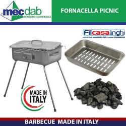 Barbecue Fornacella Made in Italy Picnic 37 x 27 Cm Filcasalinghi - 736
