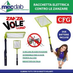 Racchetta Elerttrica Insetticida Estendibile 93 Cm Due Batterie Incluse CFG