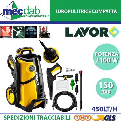 Idropulitrice Compatta ad Acqua Fredda 150 Bar 2100W Lavor LVR4 150 DIGIT