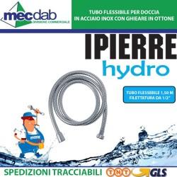 """Tubo Doccia Flessibile 800/15 Filettatura 1/2""""F x 1/2""""F Conico Ipierre hydro"""