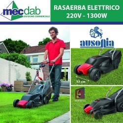 Rasaerba Elettrico Ausonia 220V 1300W con 4 Ruote Capacità 30L