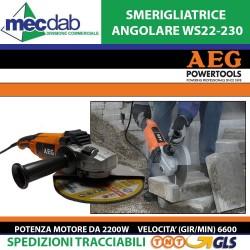 Smerigliatrice Angolare 2200W  6600 Gir/Min AEG WS22-230