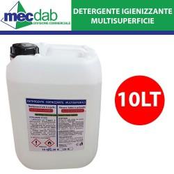 Detergente Igienizzante 10 LT Multisuperfici Elimina i Batteri ed Igienizza