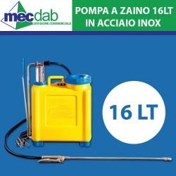 Pompa a zaino da 16 lt in Acciaio Inox 35x40 CM Lancia a Leva con Fermo