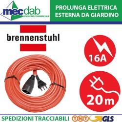 Prolunga Elettrica 20 Metri Con spina IT 16 A e presa DE 16 A. Brennestuhl 1167267