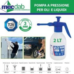 Pompa a Pressione 2 LT Per Olio e Liquidi Vari Con Spruzzatore 110mm