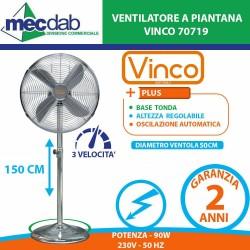 Ventilatore a Piantana Tonda 90 W Altezza Max 150 Cm   Diametro 50 Cm  FS-50M [II] Vinco