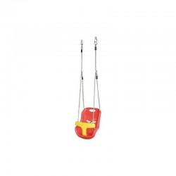 Sedile in Plastica Rosso per Altalena 37 X 45 X H.35 CM Peso Max 15 kg