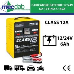 Caricabatteria per Auto Moto Camper 6A 12/24V Per Batterie da 15 a 140Ah Deca