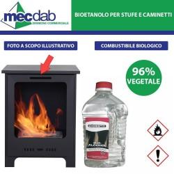 Bioetanolo Liquido 2LT Origine Vegetale 96% Stufe e Caminetti - Domestix