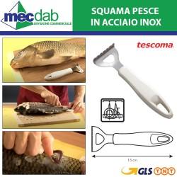 Squama Pesce In acciaio Inox 15 Cm con Manico in Plastica Tescoma Linea-Presto