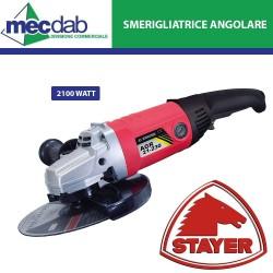 Smerigliatrice Angolare Diametro Disco Max 230mm 2100W 6500RPM Stayer AGR 21-230