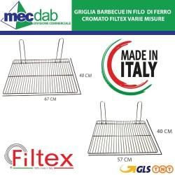 Griglia Barbecue Made in Italy in Filo di Ferro Cromato Filtex Varie Misure