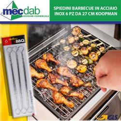 Spiedini Barbecue in Acciaio inox 6 PZ da 27 Cm Koopman