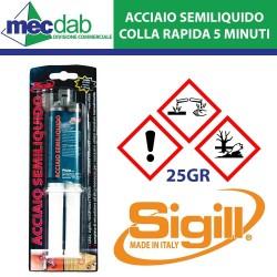 Colla Bicomponente Epossidica 25 Gr per Plastica Metalli Metallo Alte Temperature