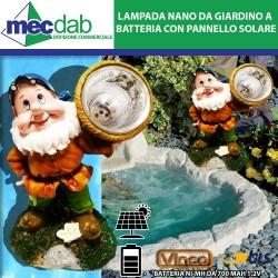 Lampada Nano da Giardino a Batteria 700 mAh 1,2V con pannello solare Vinco