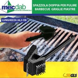 Spazzola Doppia per Pulire Barbecue  Griglia Piastre 26,3 cm