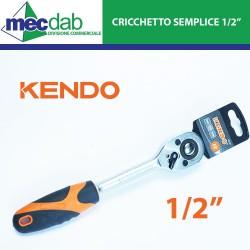"""Cricchetto Semplice 1/2"""" Cromo-Vanadio Temprato Meccanismo 72 Denti"""