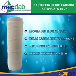 """Cartuccia Filtro Carboni Attivi 9"""" Per Pompe e Autoclavi Cafa10"""
