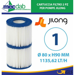 Cartuccia Filtro di Ricambio per Pompa a Filtro 1200LT/H -  Ø 80 x H 90 mm Jilong