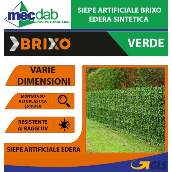 Siepe Sintetica Artificiale Edera Resistente ai Raggi UV - Brixo Varie Dimensioni