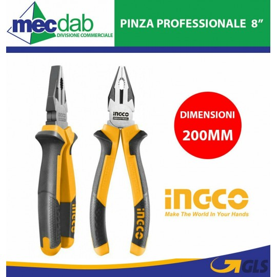 Pinza Universale 200mm in Crono Vanadium Manico PVC Ergonomico