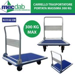 Carrello Trasportatore Pieghevole Portata Massima 300 Kg - 96 x 62 Cm