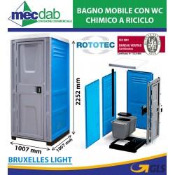 Bagno Mobile Con WC Chimico a Riciclo Bruxelles Light Rototec