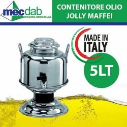 Contenitore Olio con Rubinetto 5LT in Acciaio Inox Jolly Maffei Made in Italy