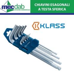 Serie 9 Chiavini Esagonali Lunghi a Testa Sferica 1.5/10mm