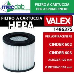 Filtro di Ricambio per Bidone Aspira Cenere a Cartuccia Metallico per Cinder 602