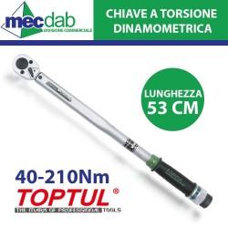 Chiave Dinanometrica a Torsione in Acciaio Testa Quadra 40-210 NM 535 mm