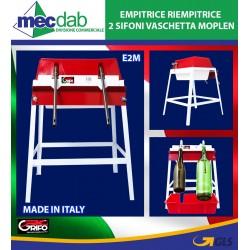 Empitrice Riempitrice 2 sifoni vaschetta moplen E2M Grifo