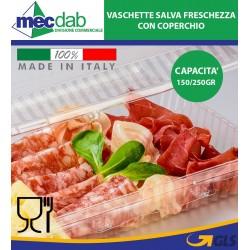 Vaschette Per Alimenti Salva Freschezza Con Coperchio Conf. 200 PZ