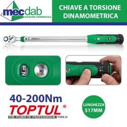 Chiave Dinamometrica a Torsione in Acciaio Testa Quadra Con Display -  40-200 NM 517 mm