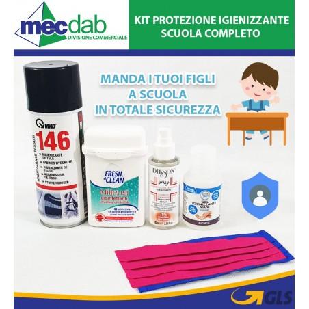 Kit Igienizzante Scuola Per Bambini Completo di Mascherina e Gel