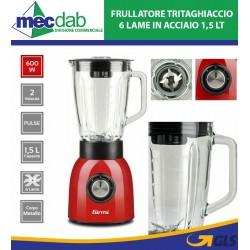 Frullatore Frantuma Ghiaccio 600W 1,5 L 6 Lame 2 Velocità Girmi FR90