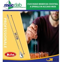 Cucchiaio Mixer da Cocktail Professionale a Spirale 30Cm in Acciaio Inox Leone