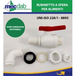 """Rubinetto a Sfera Per Contenitore Vino / Olio In Polipropilene 1"""" 30 mm"""