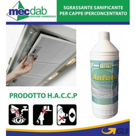 Sgrassatore Per Cappe Sanitizzante Igienizzante Iperconcentrato 1LT 2PZ - HACCP