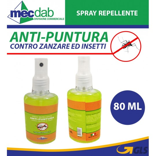 Spray Repellente Anti zanzare 80 ml  Profumato Alla Citronella