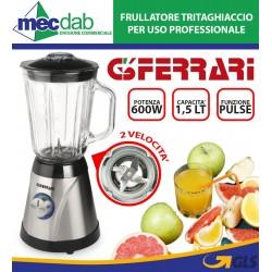 Frullatore Tritaghiaccio 1,5LT 2 Velocità 4 Lame 600W G3 Ferrari G20005