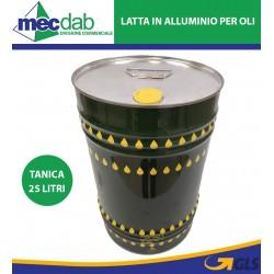 Contenitore Olio Latta in Banda Stagna Con Tappo Tanica Da 25 Litri