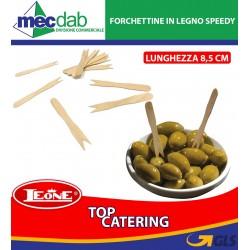 Forchettine in Legno Compostabili per Catering Confezione da 1000 8,5 Cm Leone