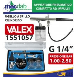 Mini Aerografo a Penna Completo di Accessori e Serbatoio in Vetro Valex 1551057