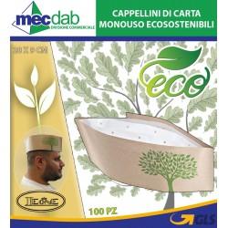 Cappellini di Carta Monouso Ecostenibili 100 Pezzi 28 x 9 Cm Leone