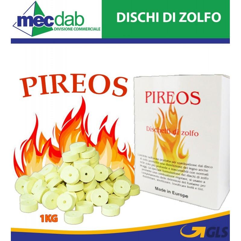 Dischi di Zolfo 1Kg  6 gr di S02 6 hl Pireos